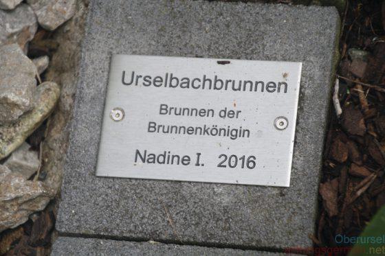 Urselbachbrunnen - Brunnen der Brunnenkönigin Nadine I. 2016