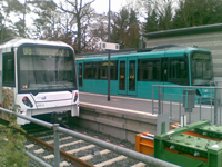 U-Bahn trains at the Hohemark terminus in Oberursel