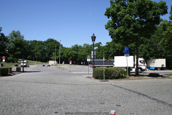 Car park Bleiche in Oberursel on Monday, 29th May, 2012 - closed for the Brunnenfest