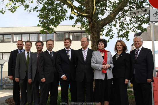 The official dedication of the Chopin-Platz