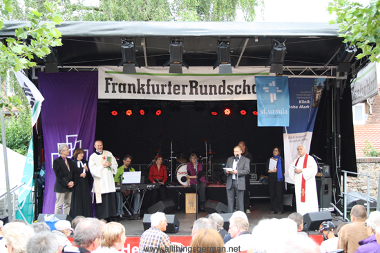 The Church Service before the official opening of the Brunnenfest (Fountain Festival) 2012 in Oberursel