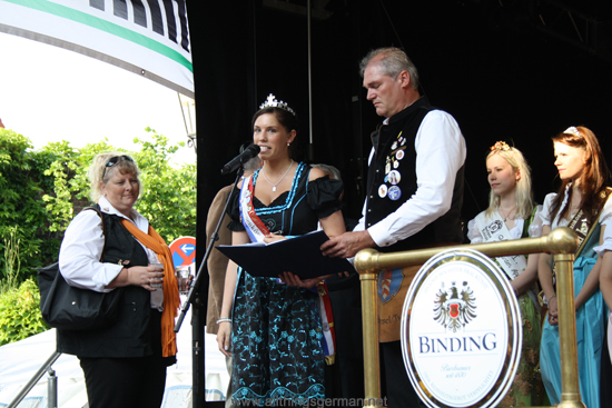 The Brunnenkönigin (Fountain Queen) - Vanessa I. - making her speech at the opening of the Brunnenfest (Fountain Festival) 2012 in Oberursel