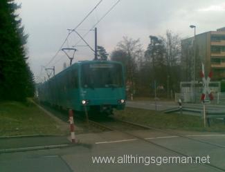 Sonderwagen in Oberursel approaches Rosengärtchen