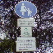 A confusing sign for Cyclists