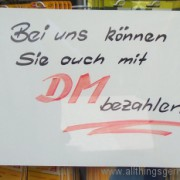The Deutschmark lives on!