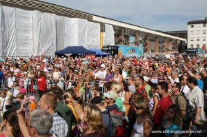 The audience in front of the main stage