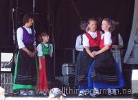 On stage at the Epinayplatz