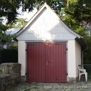 Germany's first garage, built 1938, now in Oberursel, a listed building
