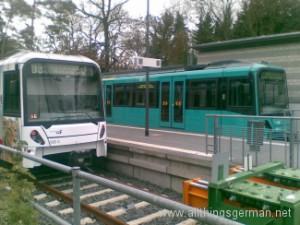 50m and 75m U-Bahn trains at Oberursel Hohemark