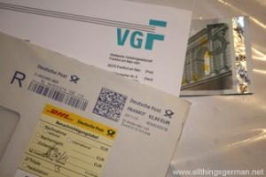 5 Euros arrived by registered post
