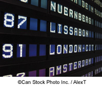 Departures Board at Frankfurt Airport - ©Can Stock Photo Inc. / AlexT
