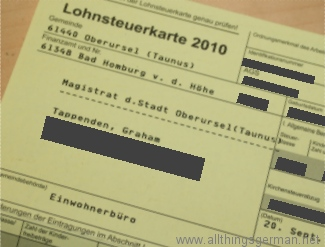 Lohnsteuerkarte 2010