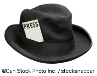 Hat with press card - ©Can Stock Photo Inc. / stocksnapper