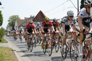 Cyclists racing in Oberursel