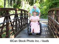 A couple with a wheelchair - ©Can Stock Photo Inc. / lisafx