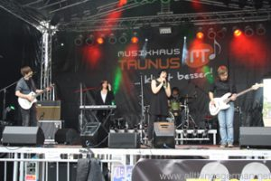 Pillow Fight Club on stage at the Hessentag in Oberursel