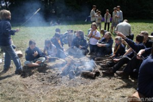 Cooking twists at the International Scout Camp during the Hessentag