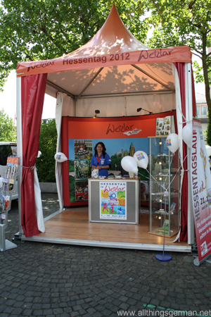 The Wetzlar stand at the Hessentag 2011 in Oberursel