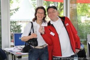 Christiane Paiement-Gensrich and Peter Schmitt from the Taunus Zeitung
