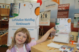 The World Vision stand at the Hessentag in Oberursel
