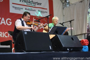Jan O. Deiters and Gerd Lübke (River Boyne Band) at the Hessentag in Oberursel