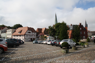 The market square in Bergen auf Rügen