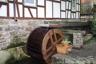 The water wheel at the Schuckardtsmühle in Oberursel