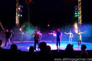 The Circus Renz Manege artists during the finale