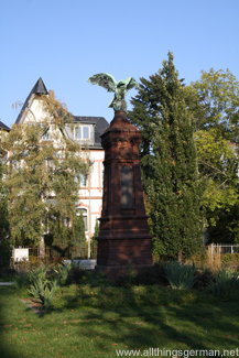 War Memorial for the 1870-71 war against France in the Adenauerallee in Oberursel