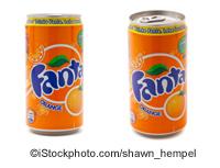 Fanta cans - ©iStockphoto.com/shawn_hempel