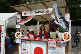 The Japanese stand at the Worldfest