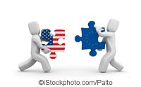 USA - EU Jigsaw pieces - ©iStockphoto.com/Palto