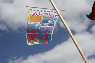A flag at the Hessentag in Wetzlar