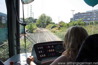 Driving a train around the test track