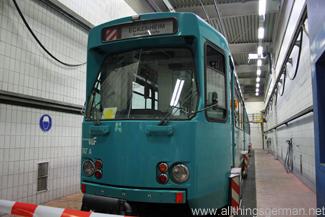 The tram wash