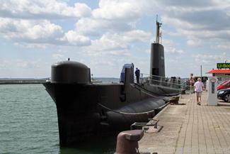 H.M.S. Otus in Sassnitz harbour