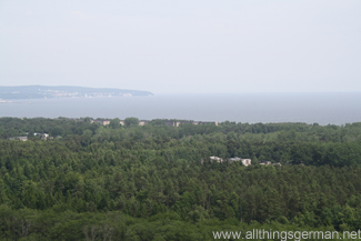 The view from the top of the tower looking north-east across Prora towards the Baltic Sea