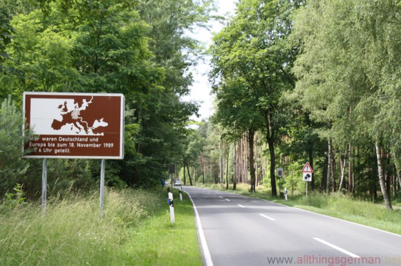 A commemorative sign near Salzwedel at the location of the Inner-German border