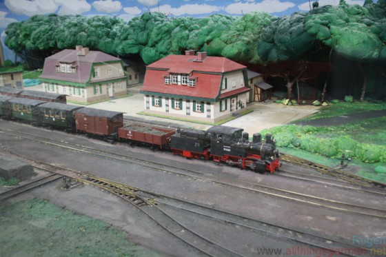 A model railway at the Railway and Technical Museum on Rügen