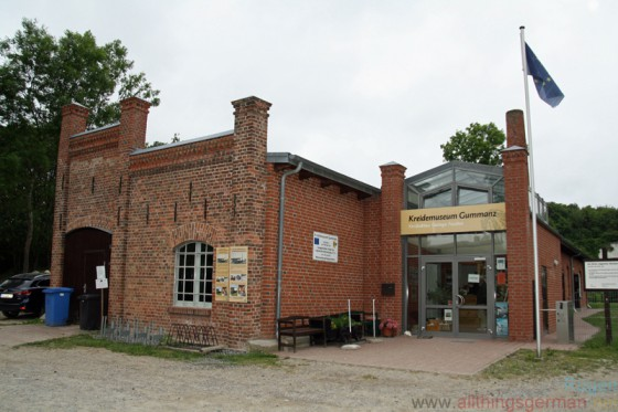 The entrance to the chalk museum (Kreidemuseum) in Gummanz