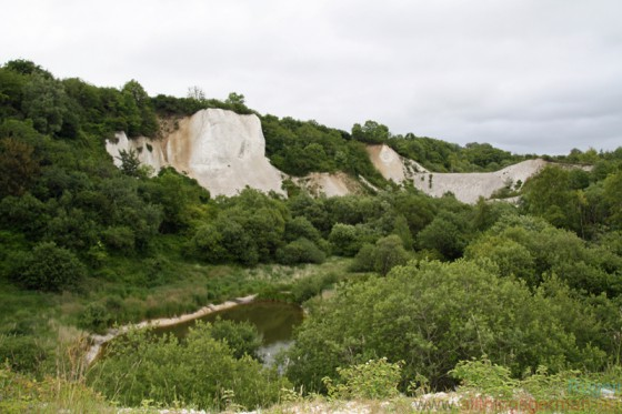 The chalk pit located behind the museum in Gummanz