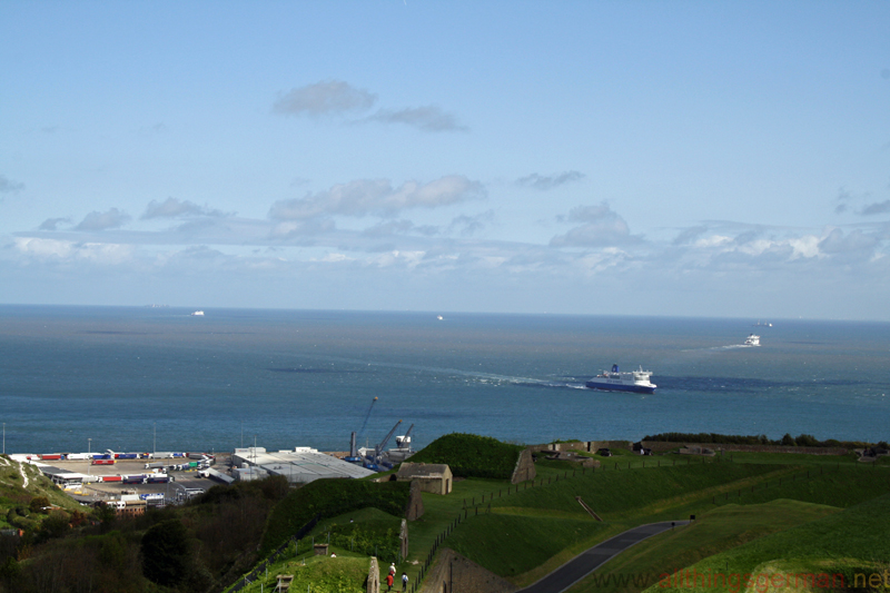 A view of the English Channel taken from Dover Castle in April 2014
