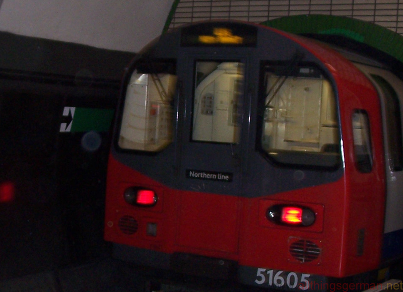 A London Underground train on the Northern Line in May 2007