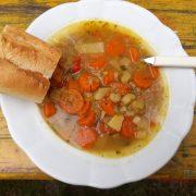 Gemüsesuppe & Kartoffelpuffer