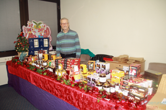 Frank Rust and the Rushmoor stand at Oberursel's Christmas Market in 2019