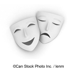 Drama and Comedy - ©Can Stock Photo Inc. / lenm