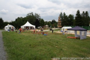 Part of the Maasgrund in Oberursel during the Hessentag 2011