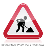 Roadworks sign - ©Can Stock Photo Inc. / RedKoala