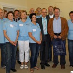 The volunteers' guides with Hans-Georg Brum, Stephan Würz and Dr. Christoph Müllerleile