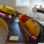 Seifenkisten - soap box cars - exhibited in the Vortaunusmuseum